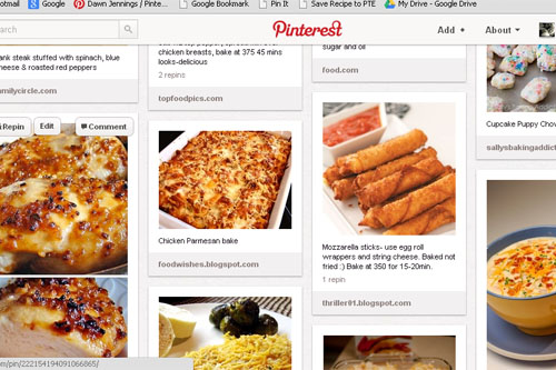Pinterest Recipe Board