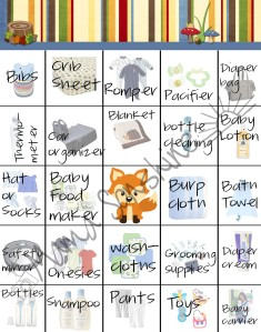 Little Fox Baby Shower Bingo
