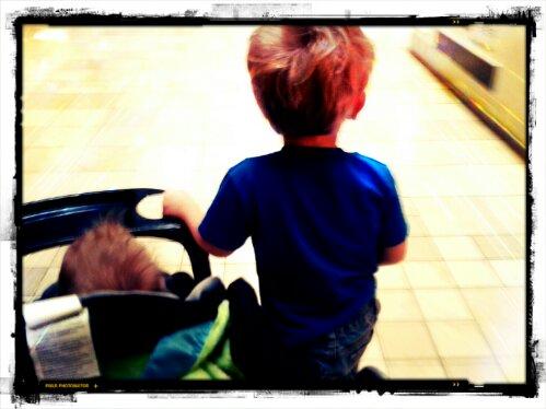 Ian walking with Sid