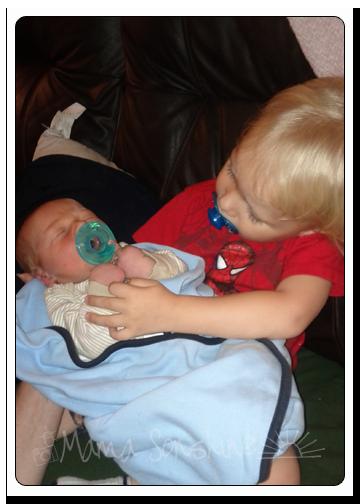 Ian and Baby Sid.  Both with binkys...