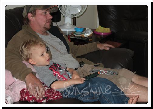 Ian & Dad just chillin'