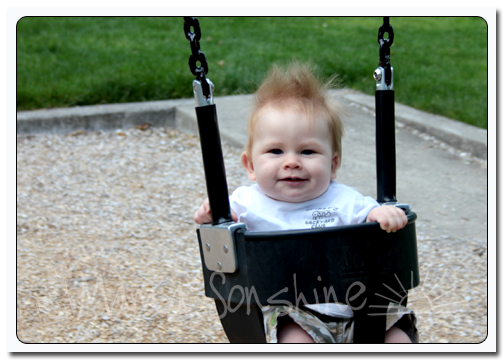 Baby Sid just swinging