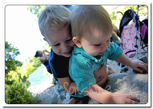 Ian hugging Baby Sid