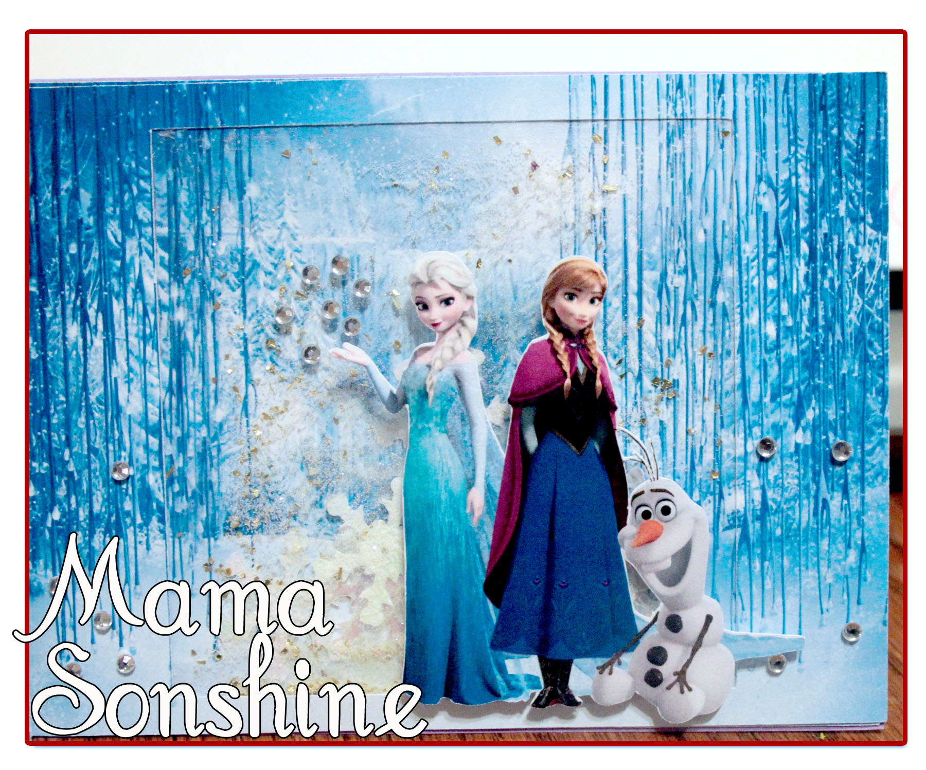 It's just a graphic of Accomplished Printable Frozen Birthday Card