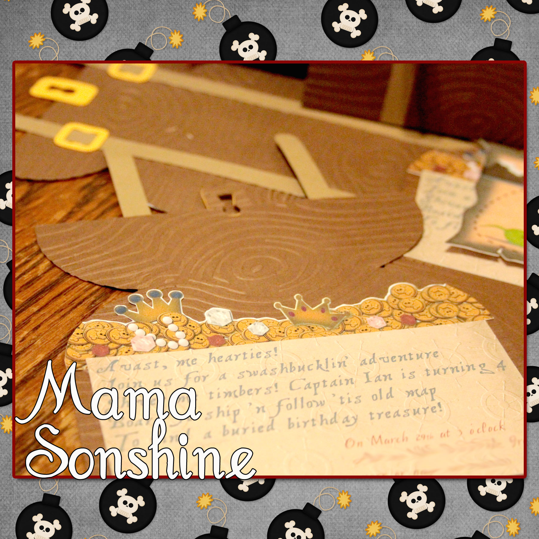 Hand Made Decorations for a Pirate Party | Mama Sonshine