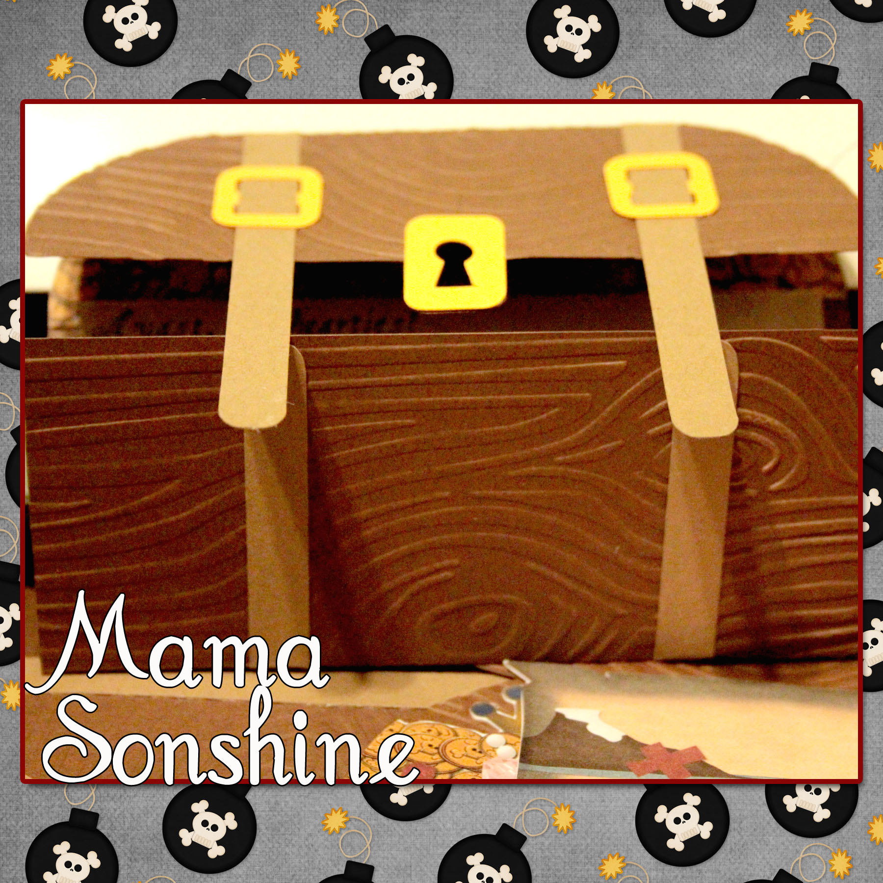 Treasure Chest Decorations Hand Made Decorations For A Pirate Party Mama Sonshine