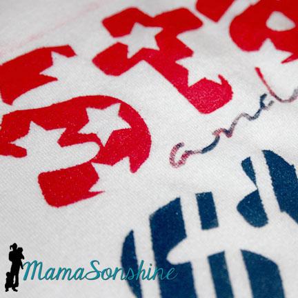 Freezer Paper July 4th Shirts | I Tri and Craft