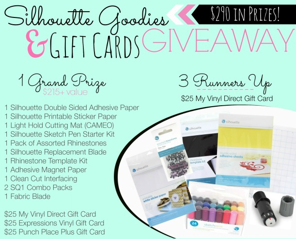 Silhouette giveaway graphic prizes