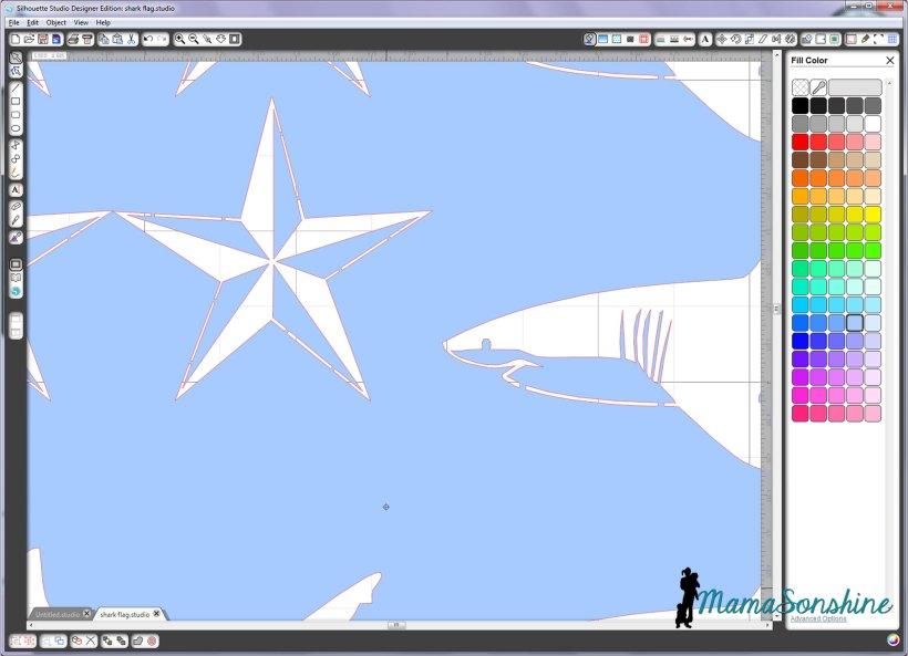 MamaSonshine Shark Flag Shirt