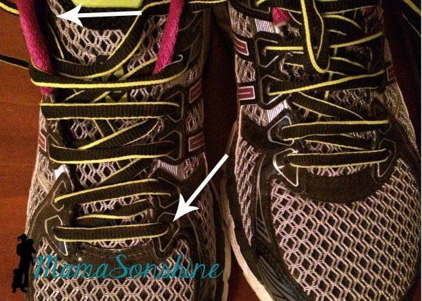 Running shoe lace technique