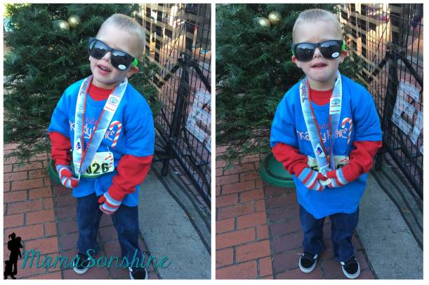 Ian with his new medal