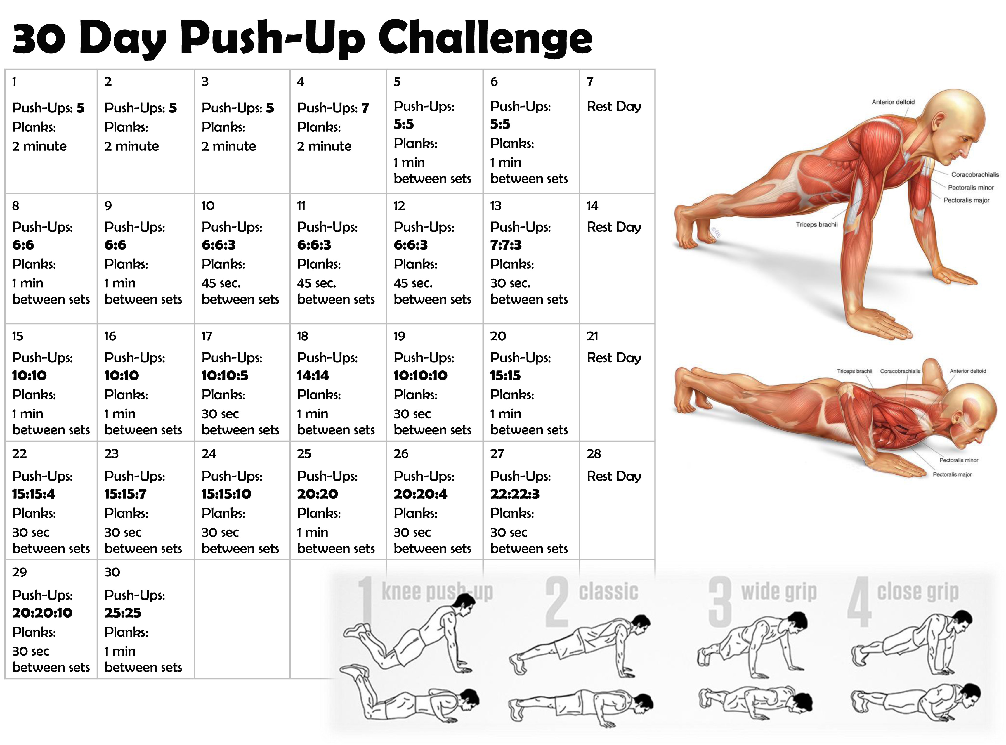 30 day pushup challenge i tri and craft